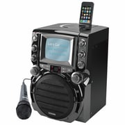 "Karaoke USA GQ752 CDG Portable Karaoke System With 5 1/2"" B/W Monitor"
