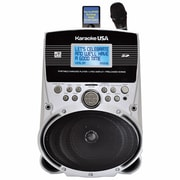 "Karaoke USA SD516 Portable Karaoke MP3 Lyric Player With 3.2"" Lyric Screen/SD Slot and 100 Songs"