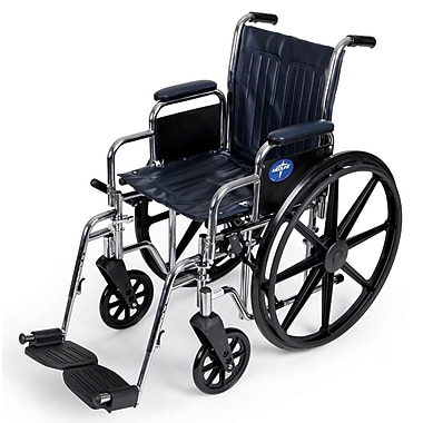 Medline Excel Vinyl Wheelchair, Navy