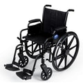 Medline Basic Lightweight Wheelchair, Black