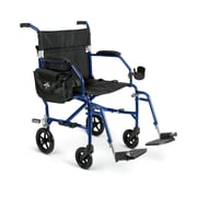 Medline Ultra Lightweight Transport Wheelchair , Blue