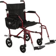 Medline Ultra Lightweight Transport Wheelchair , Red