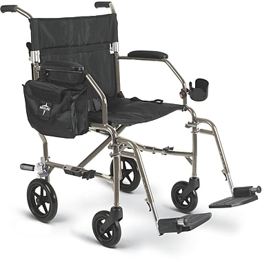 Medline Ultra Lightweight Transport Wheelchair , Silver