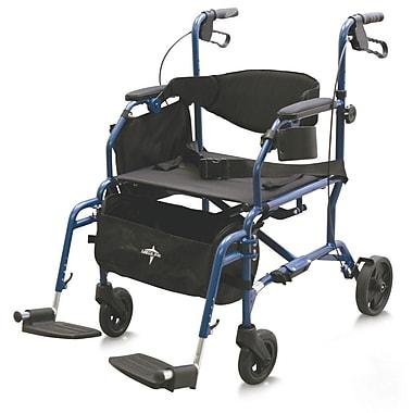 Medline Combination Rollator Transport Chair, Blue