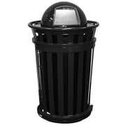 Witt Oakley 36-Gal Trash Receptacle with Slide Gate & Dome Top; Silvadillo