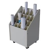 Adir Corp Mobile Wood Roll File Filing Cart