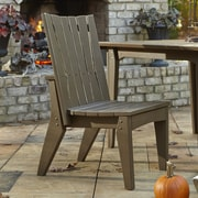 Uwharrie Hourglass Dining Side Chair; Twilight Blue (Distressed)