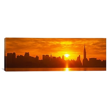 iCanvas Panoramic New York City Photographic Print on Canvas; 16'' H x 48'' W x 1.5'' D