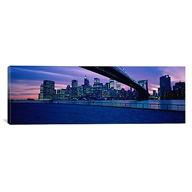 iCanvas Panoramic New York City Photographic Print on Canvas; 12'' H x 36'' W x 1.5'' D