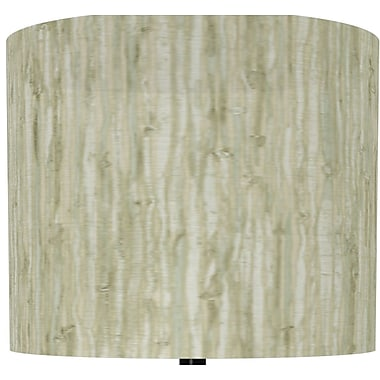 Illumalite Designs Bamboo Print Polystyrene Drum Lamp Shade; 7''