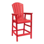 CR Plastic Products Generations Pub Dining Arm Chair; Red