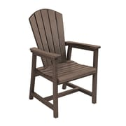 CR Plastic Products Generations Dining Arm Chair; Chocolate