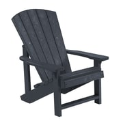CR Plastic Products Generations Kids Adirondack Chair; Black