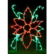 Queens of Christmas Poinsettia Flower LED Light Christmas Decoration