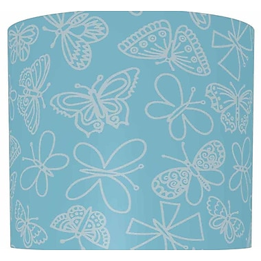 Illumalite Designs Butterflies Drum Lamp Shade; 11''