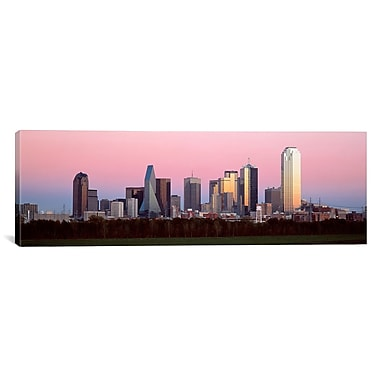 iCanvas Panoramic Twilight Dallas, Texas Photographic Print on Canvas; 20'' H x 60'' W x 0.75'' D