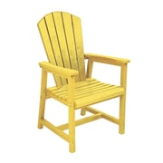 CR Plastic Products Generations Dining Arm Chair; Yellow