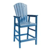 CR Plastic Products Generations Pub Dining Arm Chair; Blue