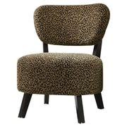 Wildon Home   Shady Shores Leopard Print Fabric Slipper Chair