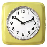 Bai Design Cubist Retro Modern Wall Clock; Chartreuse