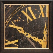 North American Art 'Roman Numerals II' by Russell Brennan Framed Graphic Art