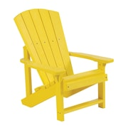 CR Plastic Products Generations Kids Adirondack Chair; Yellow