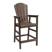 CR Plastic Products Generations Pub Dining Arm Chair; Chocolate