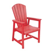 CR Plastic Products Generations Dining Arm Chair; Red