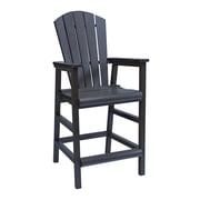 CR Plastic Products Generations Pub Dining Arm Chair; Black