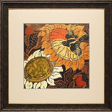 North American Art Sunflower Series #14 by Quida Touchon Framed Painting Print
