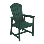 CR Plastic Products Generations Dining Arm Chair; Green