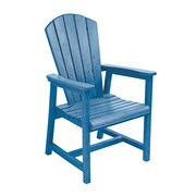 CR Plastic Products Generations Dining Arm Chair; Blue