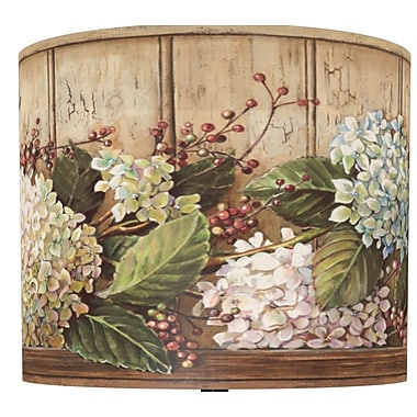 Illumalite Designs Hydrangea Shelf Drum Lamp Shade; 7''