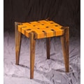 William Sheppee 18'' Bar Stool; Mustard Leather