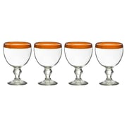 Global Amici El Gordito 26 Oz. Glass (Set of 4); Orange