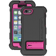 Ballistic Hc iPhone(R) 5/5s HC1267-A19C Hard Core(R) Case with Holster, (Black TPU/Hot Pink