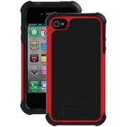 Ballistic Tough Jacket TJ0582-A30C Case for iPhone 4/4s, Black & Red