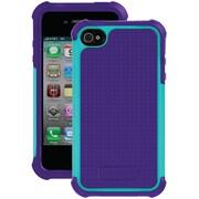 Ballistic Tough Jacket TJ0582-A67C Case for iPhone 4/4s, Grape Purple & Teal Blue