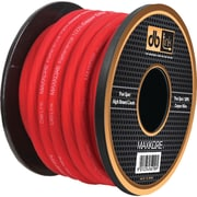 Db Link 100% OFC Copper MKPW4R100 Soft Touch Power/Ground Wire, Red Power
