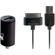 Iessentials iPod IPL-PC-BK Car Charger with Apple iPod and iPhone Cable