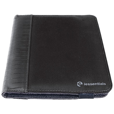 iessentials IEUF7BK Pleather Folio Case for 8in. Apple iPad Mini, Samsung Galaxy, Kindle Fire, Black