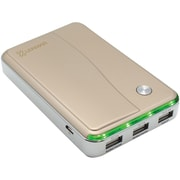 Lenmar Helix Portable PPW11000UG Power Pack with 3 USB Ports for Mobile Phones & Tablets, Gold