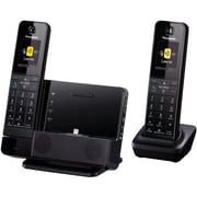 Panasonic KX-PRL262B Single Line Cordless Link2Cell Digital Phone with iPhone5 Integration, Black