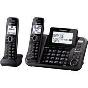 Panasonic Bluetooth KX-TG9542B Cellular Convergence Solution Landline Telephone, 2-Handset System