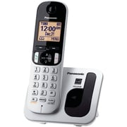 Panasonic KX-TGC210S Single Line Cordless Office Telephone with 1-Handset, Amber