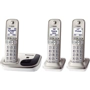 Panasonic KX-TGD213N Single Line Cordless Phone with 3-Handset, Gold