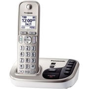 Panasonic KX-TGD220N Single Line Cordless Office Telephone with 1-Handset, Champagne Gold
