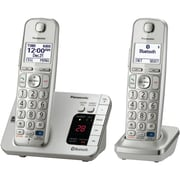 Panasonic KX-TGE262S Single Line Cordless Office Telephone with 2-Handset, Silver