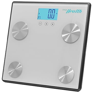 Pyle-Sport Bluetooth PHLSCBT4SL Digital Weight Personal Health Scale, Gray