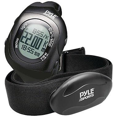 Pyle-Sport Bluetooth PSBTHR70BK Heart Rate Monitoring Watch With Wireless Data Transmission, Black